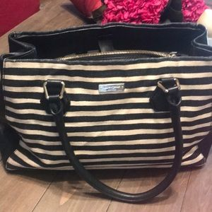 Kate Spade med tote good used cloth and leather